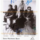THE DAVE MATTHEWS BAND AUTOGRAPHED 8x10 RP PROMOTIONAL PHOTO
