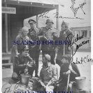 HOGANS HEROES CAST SIGNED AUTOGRAPHED 8x10 RP PHOTO BOB CRANE RICHARD DAWSON BANNER +