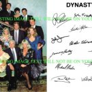 DYNASTY CAST AUTOGRAPHED 6x9 RP PHOTO BY 13 LOCKLEAR FORSYTHE EVANS COLLINS +