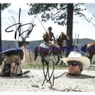 "THE LONE RANGER CAST ARMIE HAMMER AND JOHNNY DEPP AUTOGRAPHED 8""X10"" RP PHOTO"