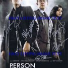 PERSON OF INTEREST CAST SIGNED AUTOGRAPHED 8x10 PHOTO JIM CAVIEZEL MICHAEL EMERSON HENSON +