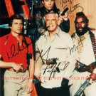 THE A TEAM CAST SIGNED 8x10 RP PHOTO MR T GEORGE PEPPARD BENEDICT SCHULTZ A-TEAM