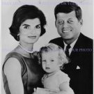 JOHN F KENNEDY AND JACQUELINE O ONASSIS AUTOGRAPHED 8x10 RP PHOTO JFK W CAROLINE