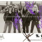 SLAYER GROUP BAND AUTOGRAPHED 8x10 RP PHOTO ROCK N METAL