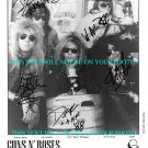GUNS AND ROSES BAND AUTOGRAPHED 8x10 RP PROMO PHOTO AXL SLASH IZZY DUFF + GNR