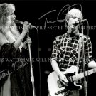 TOM PETTY AND STEVIE NICKS AUTOGRAPH AUTOGRAM 8x10 RP PHOTO STOP DRAGGIN MY HEART AROUND