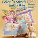 Color n Stitch Just Baby Quilt Crayon Embroidery Linda Gillum