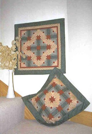 Mini-Denver Log Cabin Pillow and Wall Hanging Quilt Pattern ZDS1