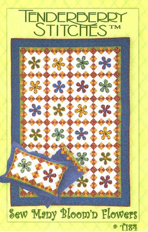 Sew Many Bloom n Flowers Tenderberry Stitches Quilt Pattern ZDS1