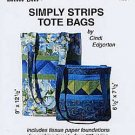 SIMPLY STRIPS TOTE BAGS by Cindi Edgerton ZDS1