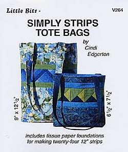 SIMPLY STRIPS TOTE BAGS by Cindi Edgerton ZDS1