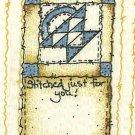 Quilt Labels Flower Basket Stitched Just For You