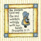 Quilt Labels Sunbonnet Sue and Proverb