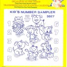 Aunt Martha's Iron on Transfer Kids Number Sampler 3927 ZDS1