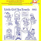 Aunt Martha's Iron on Transfer Little Girl Tea Towels 3912 ZDS1