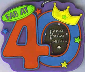 KEY FOB FAB AT 40 Keychain Photo Holder Birthday Frame Red 4 AT3
