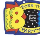 KEY FOB Born to Party 18 Keychain Photo Frame Birthday AT3