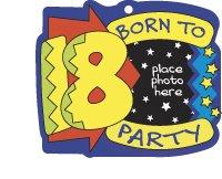 KEY FOB Born to Party 18 Keychain Photo Frame Birthday AT3