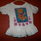Small Steps Size 2T Bear Shirt With Ruffle