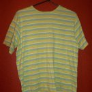 Hannah Green Striped Pullover Top Size Large