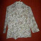 Catos Paisley Print Button Up Blouse Size Large