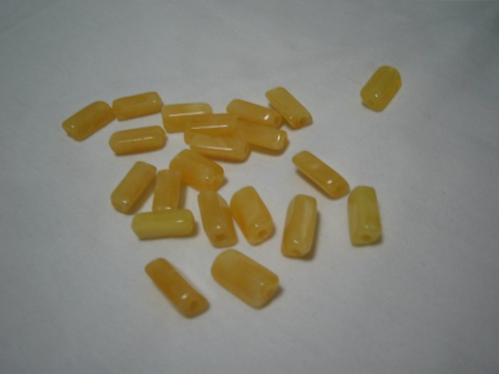 Yellow Rectangular Beads (12mm x 6mm)