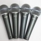 Set of 4 gently used Shure Beta 58A 58 A with Box and Accessories