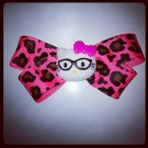Pink Leopard Hello Kitty Bow