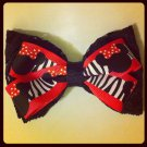 Lace Minnie Disney Zebra Bow