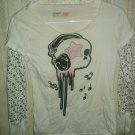 Skull Music Long Sleeve Shirt; Girls; SM