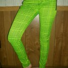 Tripp Skinny Jeans; Green Plaid; Girls Size 5