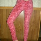 Tripp; Pink on Pink Leopard Print Skinny Jeans; Girls Size 7