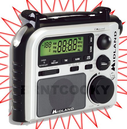 Midland ER102 NOAA Weather AM/FM Radio Crank Power
