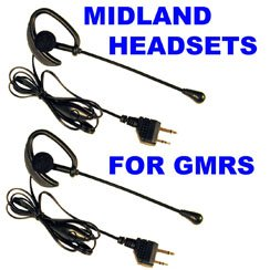 Pair Midland GMRS Over the Ear Mic Headsets AVP-1