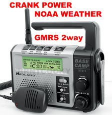 Midland XT511 NOAA Weather GMRS AM/FM Crank Power Radio