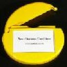Business Card Caddy for your Car Window. Yellow
