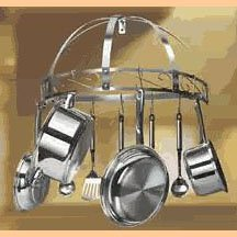 Leyse Stainless Steel Wall Mount Pot & Pan Rack  NIB