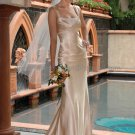 2012 Mermaid Cap Sleeves Champagne Peach  Wedding Dress Sz24 6 8 10+Custom Bridal Evening Gown