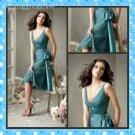 A-line Short Evening Dress Cocktail Dress V-neck Teal Green Bridesmaid Prom Dress