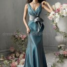V-neck Teal Green Blue Evening / Prom / Bridesmaid Dress Sz 4 6 8 10 12 14+Custom