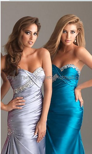Strapless Silver Satin Fuchsia Long Bridal Evening Dress A-line Prom Dress Beaded Formal Dress