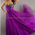 Strapless Gold Blue Purple Bridal Evening Dress A-line Prom Dress Sequins Pregnant Formal Dress