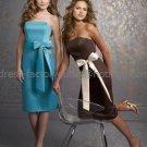 Halter Short Bridesmaid Dress Black Brown SATIN & Sash Homecoming Dress Pleated Cocktail Dress