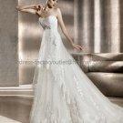 Strapless Bergamo Bridal Gown White Alencon Lace Mermaid Wedding Dress Free Petticoat PV307