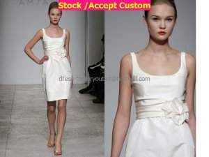 Sheath Mini Beige Taffeta Short Bridal Evening Dress Bridesmaid Dress Little Beach Wedding Dress