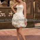 Layered Dress Ivory Organza Short Evening Bridesmaid Prom Dress Strapless Mini Wedding Dress
