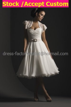 Layered Dress White Chiffon Short Evening Dress Bridesmaid Dress Strapless Wedding Dress & Jacket