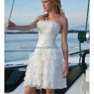 Layered Dress White Organza Short Evening Dress Bridesmaid Dress Strapless Wedding Dress