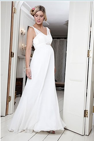 White Empire Wedding Dress