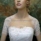 Ivory White Lace Short Sleeves Short Bridal Dress Jacket Vest Shawl Wedding Dress Bolero Jacket J68